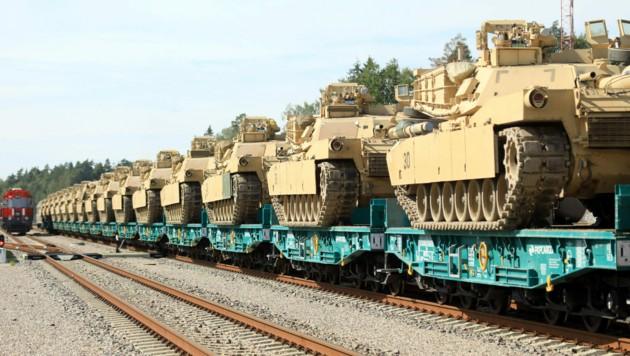US-Panzer in Litauen (Bild: AFP)