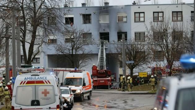 In der Forellenwegsiedlung in Liefering entstand ein Vollbrand in einer Wohnung. (Bild: Markus Tschepp)