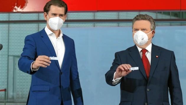 Kurz und Ludwig traten zuletzt gerne geeint vor die Presse (Bild: Klemens Groh)
