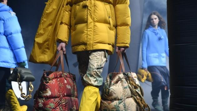Moncler bei der Mailänder Modewoche (Bild: Photo by Andreas SOLARO / AFP)