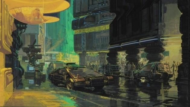 """""""Downtown Cityscape"""" nennt sich dieser Entwurf, den Syd Mead 1981 für den Film """"Blade Runner"""" von Ridley Scott schuf. (Bild: Syd Mead)"""