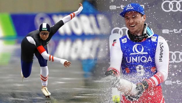 Kärntens Sportler des Jahres: Vanessa Herzog und Matthias Mayer (Bild: Hochmuth/APA, Wukits/EXPA)