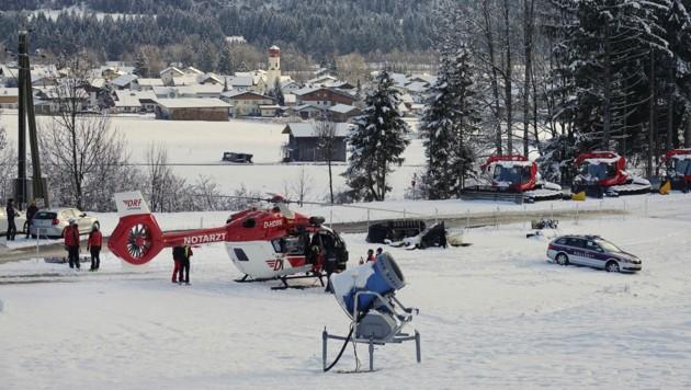 Der Verletzte wurde mit dem Hubschrauber ins Krankenhaus geflogen