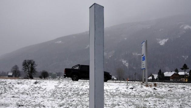 Jetzt ist auch ein Monolith im Lungau in Salzburg aufgetaucht. (Bild: ROLAND HOLITZKY)