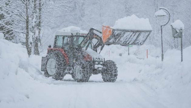 In Osttirol fällt seit dem Wochenende fast ununterbrochen Schnee.