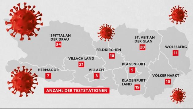 Ab Freitag können sich fast alle Kärntner testen lassen. Die Stationen werden gemeindeabhängig aber nicht an allen drei Tagen (11. bis 13. Dezember) betrieben. (Bild: Krone KREATIV, stock.adobe.com)