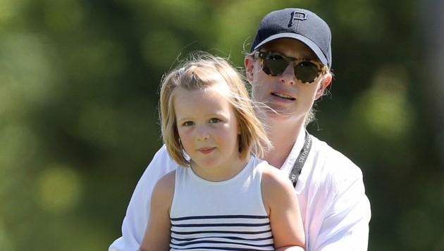 Zara Tindall mit Tochter Mia (Bild: Andrew Matthews / PA / picturedesk.com)