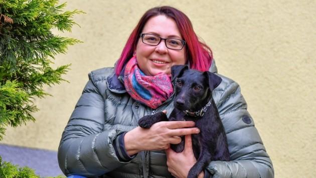 Margit Scheschka mit Karma