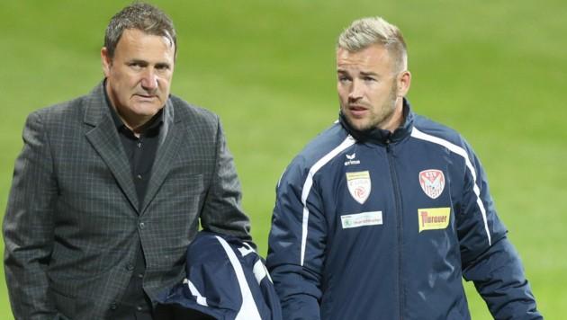 Der Job als Co-Trainer in Kapfenberg taugt David Sencar (r.). (Bild: GEPA pictures)