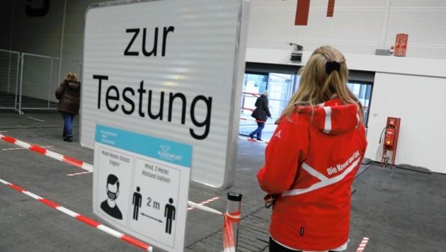 In Klagenfurt wurde etwa in der Messehalle 5 getestet. (Bild: Rojsek-Wiedergut Uta)