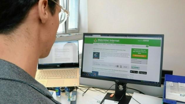 Bietet Infos zu Fakes und Fallen im Netz: Watchlist Internet (Bild: Jöchl Martin)