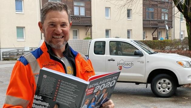 Gemeindearbeiter Peter Lechner aus Jenbach machte mit seiner Frau Sabine heuer ebenfalls schon Schlagzeilen. (Bild: zoom.tirol)