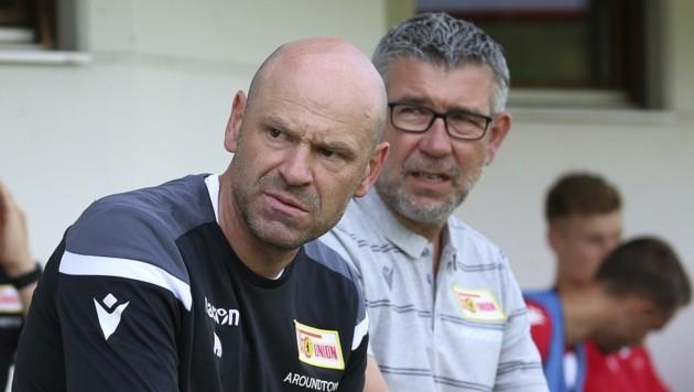Bei Union Berlin seit zweieinhalb Jahren vereint: Markus Hoffmann (li.) und Cheftrainer Urs Fischer. (Bild: Tröster Andreas)
