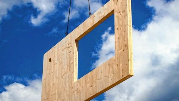 Der Anteil von Holz am Bau stieg in 20 Jahren von 14 auf 24 Prozent an. (Bild: Pfeifer Group)