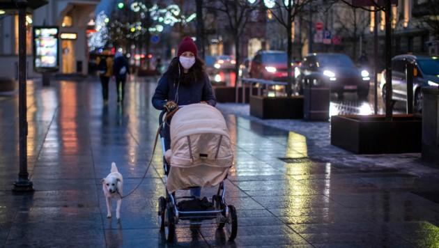 Das öffentliche Leben in Litauen wird ab Mittwoch auf ein Minimum reduziert. Auch in der Hauptstadt Vilnius.