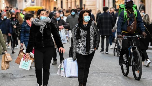 Die Einkaufsstraße Via del Corso in Rom (Bild: AFP)