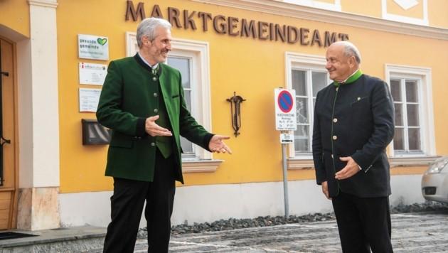Anton Schmid übergab nach 17 Jahren das Zepter in der VP an seinen Vizebürgermeister Klaus Poscharnig. (Bild: Karlheinz Fessl)