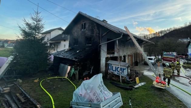 Der Brand wurde rasch gelöscht. (Bild: Markus Tschepp)