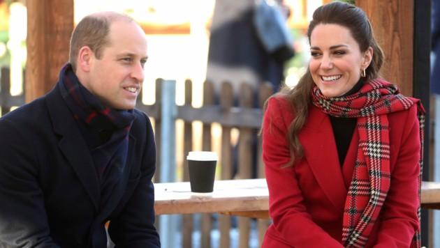 Prinz William und Herzogin Kate (Bild: APA/Chris Jackson/Pool via AP)