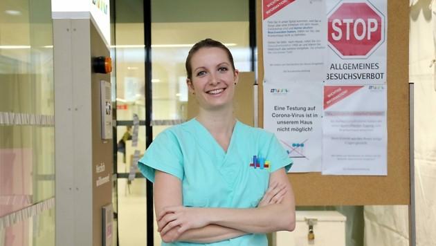 Eva Gribat leitet die Covid-Station mit 32Betten im Krankenhaus der Barmherzigen Brüder in Graz.