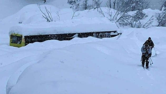 Die Schneemassen in Osttirol waren enorm. (Bild: Bundesheer)