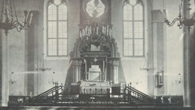 Die Innenausstattung des 1860 erbauten jüdischen Tempels war einst prächtig. (Bild: Huber Patrick)