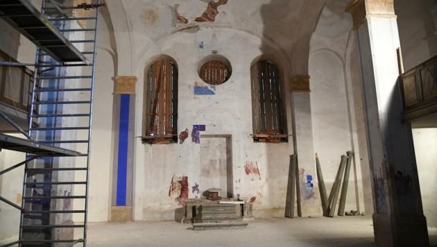 Der einstige Gebetsraum (Bild: Huber Patrick)