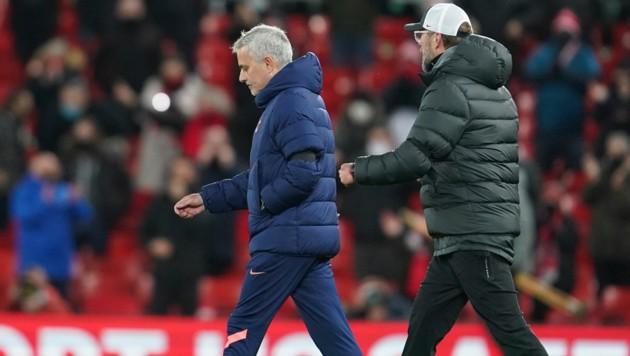 Jose Mourinho (li.), Jürgen Klopp (Bild: AP)