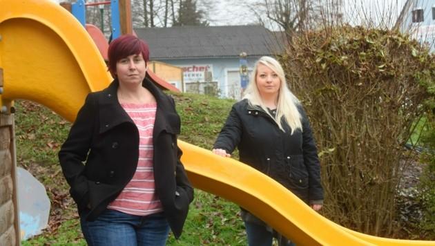 Kindergärtnerin Alexandra Obendrauf (li.) und Hortpädagogin Bianca Theresa Dobnik. (Bild: elmar gubisch)