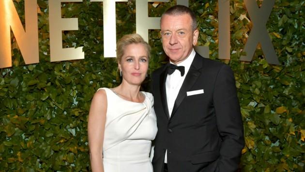 Gillian Anderson und Peter Morgan bei der Golden Globes After Party von Netflix im Jänner 2020 in Los Angeles (Bild: Emma McIntyre/Getty Images for Netflix/AFP)