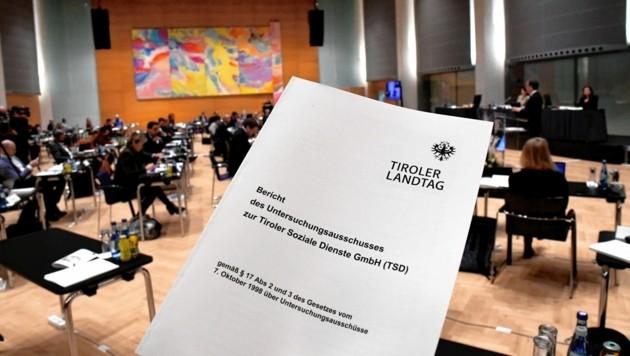 Der Bericht des Verfahrensleiters Anton Mattle (ÖVP) war Gegenstand der Debatte am Freitag. (Bild: Andreas Fischer)