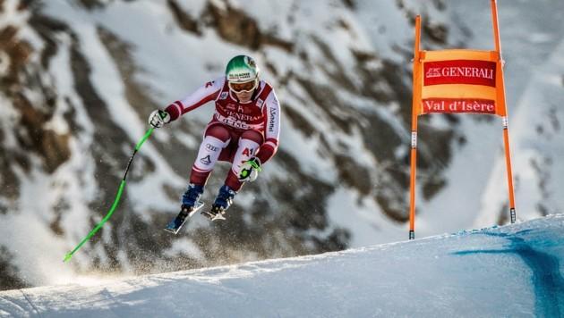 Otmar Striedinger, Zweiter bei der Weltcup-Abfahrt in Val d'Isere, ist in Zauchensee am Start. (Bild: JEFF PACHOUD)