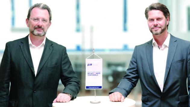 PIA-Automation-Geschäftsführer Nikolaus Szlavik (l.) und Andreas Stugger, Head of Sales and Costumer Service (Bild: PIA Automation Austria GmbH)
