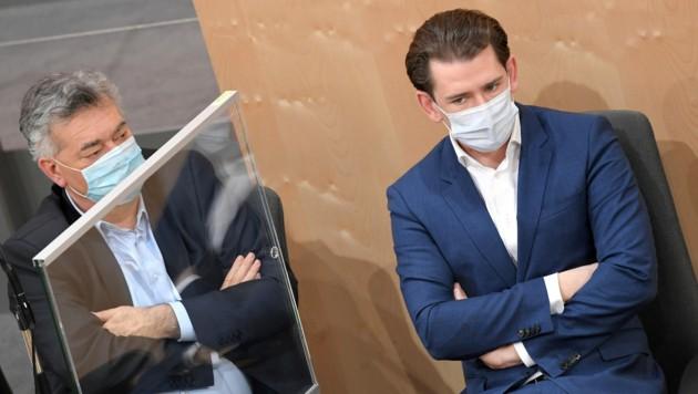 Viel hat die Regierung unter Vizekanzler Werner Kogler (Grüne) und Kanzler Sebastian Kurz (ÖVP) 2020 auf den Tisch gelegt - manches ging sich dann aber doch nicht aus.
