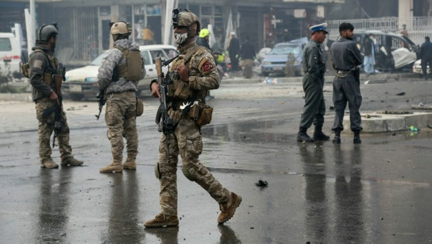 Spezialeinsatzkräfte in Kabul (Bild: Zakeria HASHIMI/AFP (Symbolbild))