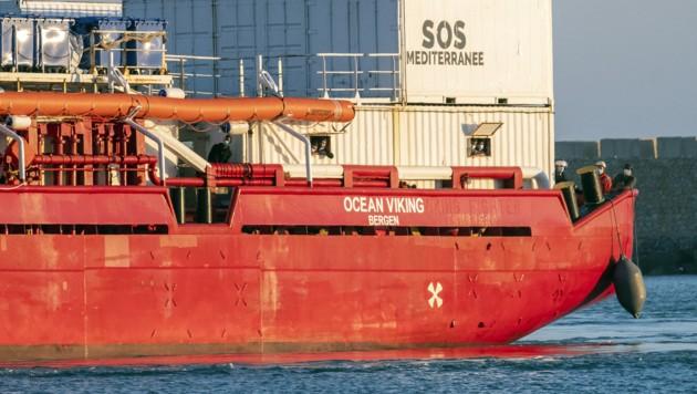 Das NGO-Schiff Ocean Viking (Archivbild) (Bild: APA/AFP/Giovanni ISOLINO)