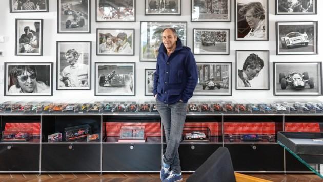 """Gerhard Berger im Interview mit dem Lifestyle Magazin """"OOOM"""" über sein Enkerl Miguel und seinen Freund, Beatle George Harrison (Bild: Roland Unger)"""