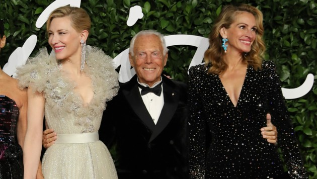 Stars wie Cate Blanchett und Julia Roberts lieben die Designs von Giorgio Armani. (Bild: APA / Photo by ISABEL INFANTES / AFP)