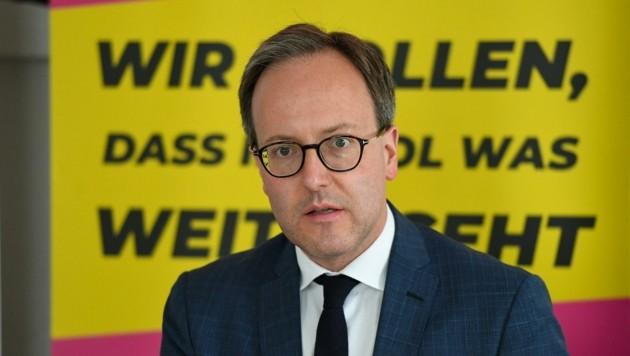 Die Neos mit Chef Dominik Oberhofer haben sich seit der letzten Landtagswahl auf 9,4 Prozent verdoppelt. (Bild: Erich Spiess)
