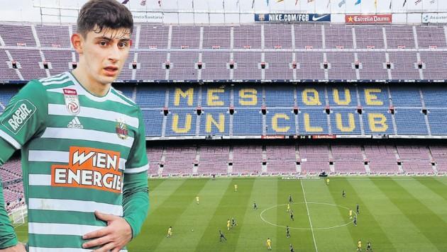 Yousuf Demir: Von Rapid zum großen FC Barcelona? (Bild: Mario Urbantschitsch, AFP)