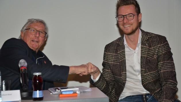 Generationswechsel im wahrsten Sinne: Bernhard Riml macht für den um fast 40 Jahre jüngeren Benjamin Kneisl Platz.