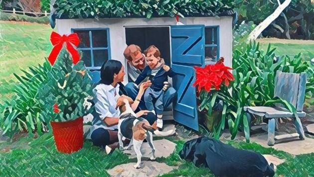 Herzogin Meghan und Prinz Harry haben ihre Weihnachtskarte 2020 auf dem Twitter-Kanal der Tierschutzorganisation The Mayhew veröffentlicht.