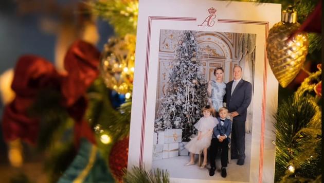 Fürst Albert und Fürstin Charlene haben eine glamouröse Weihnachtskarte veröffentlicht. (Bild: www.facebook.com/palaismonaco)