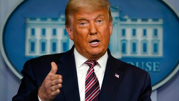 Trump warnt aufgrund von iranischen Raketenangriffen auf die US-Botschaft im Irak vor Vergeltung. (Bild: AP)
