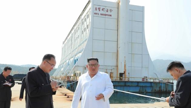 """Die alte Ferienanlage am Kumgang-Berg im Diamantgebirge bezeichnete Diktator Kim Jong Un als """"schäbig"""". (Bild: AFP)"""