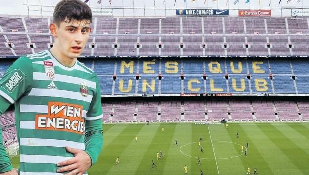 Zieht's Rapid Yusuf Demir zum FC Barcelona? (Bild: Mario Urbantschitsch, AFP)