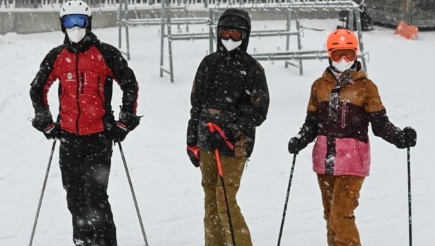 Skifahrer in Seefeld