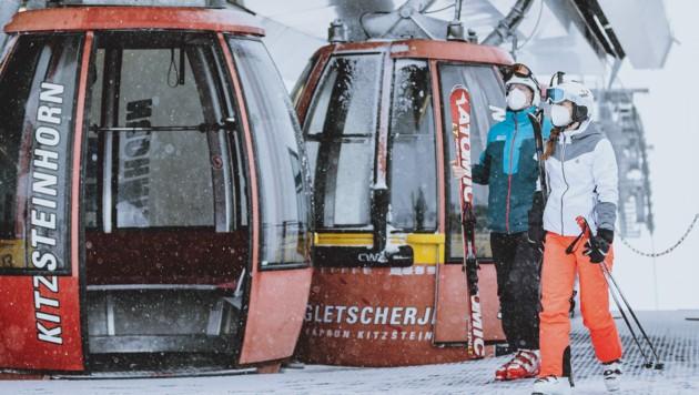 Skifahrer am Kitzsteinhorn