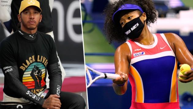 Lewis Hamilton und Naomi Osaka (Bild: AP)