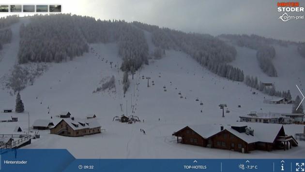 Ein Ansturm von Skifahrern blieb auch in Hinterstoder im heurigen Winter aus (Bild: Webcam)